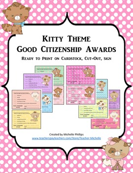 GOOD CITIZENSHIP AWARDS - KITTY THEME