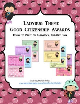 GOOD CITIZENSHIP AWARDS - LADYBUG THEME