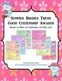 GOOD CITIZENSHIP AWARDS - SUMMER BIRDIES THEME