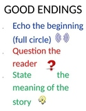GOOD ENDINGS Anchor Chart - Lucy Calkins