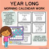 GOOD MORNING CALENDAR WORK - YEAR LONG BUNDLE