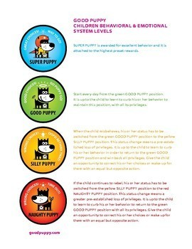 Behavior Avatar Levels . Child Behavioral & Emotional Tools by GOOD PUPPY