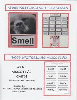 GOOD WRITER STRATEGIES:  ADJECTIVES