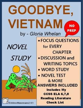 GOODBYE, VIETNAM Novel Study, Complete