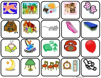 """""""GOODNIGHT MOON"""" Vocabulary Word Pictures for Autism"""
