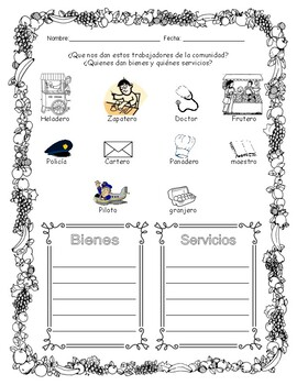GOODS AND SERVICES - Activity and Assessment - BIENES Y SERVICIOS