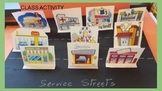 GOODS AND SERVICES STREETS - 3 Activities - English & Spanish