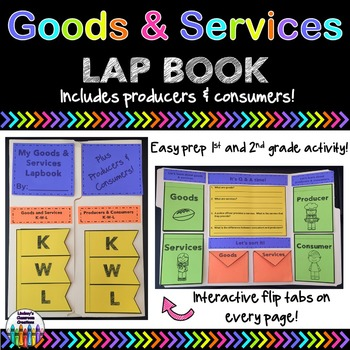 GOODS and SERVICES Lap Book!  Easy Prep Interactive Fun For Grades 1 and 2!