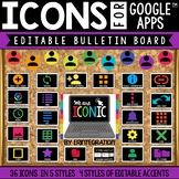 Bulletin Board Editable Classroom Decor: 36 GOOGLE Apps Icons