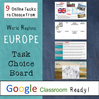 GOOGLE CLASSROOM Activities: Task Choice Boards for Europe