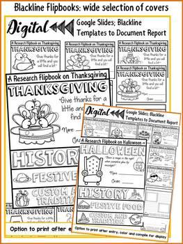 GOOGLE CLASSROOM: INFORMATIONAL RESEARCH REPORT FLIPBOOK BUNDLE: CELEBRATIONS