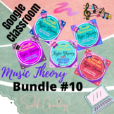 GOOGLE CLASSROOM Music Theory Circle of Fifths Bundle #10