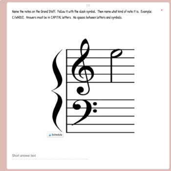 GOOGLE CLASSROOM - Music Theory - Ledger Lines