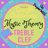 GOOGLE CLASSROOM - Music Theory - The TREBLE CLEF AND STAFF