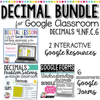 GOOGLE Classroom Decimal Bundle for 4.NF.C.6