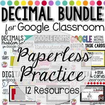 GOOGLE Classroom Understanding Decimals Bundle