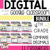 GOOGLE Classroom Comparing Decimal Bundle