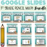 GOOGLE Classroom Games for First Grade Math PENCIL BUNDLE