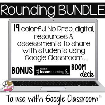 GOOGLE Classroom Rounding Bundle 3rd Grade