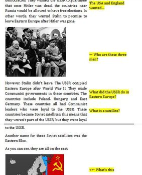 Google Docs: Outcomes of World War II and the Cold War
