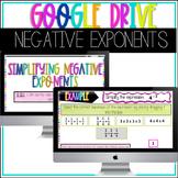 GOOGLE DRIVE 8.EE.1 Negative Exponents Activity