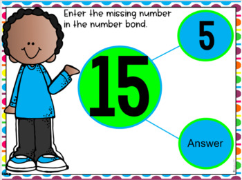 GOOGLE DRIVE INTERACTIVE MATH Fill in Number Bonds *DIGITAL MATH CENTERS*