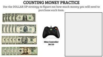 GOOGLE DRIVE + GOOGLE CLASSROOM: Life Skills Math, Money and Dollar Up