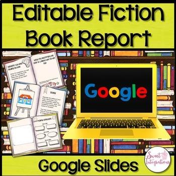 FICTION BOOK REPORT: Editable Google Slides™