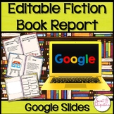 DIGITAL FICTION BOOK REPORT | With Google Slides | Distanc