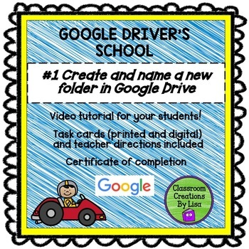 GOOGLE DRIVER'S SCHOOL - #1 Create and name a new folder in Google Drive