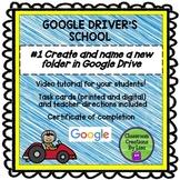 GOOGLE DRIVER'S SCHOOL - #1 Create and name a new folder i