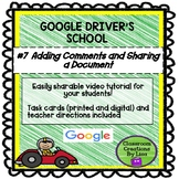 GOOGLE DRIVER'S SCHOOL #7 - Comment and Share a Document
