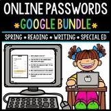 GOOGLE Drive - Online Passwords - Technology - Special Education - Bundle