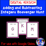 GOOGLE EDITION  Adding and Subtracting Integers Scavenger Hunt