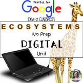 GOOGLE Ecosystems Unit No Prep Digital Interactive Lessons