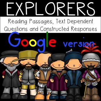 GOOGLE Explorers Bundle Passages Text Dependent Questions and Responses