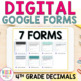 GOOGLE FORM Bundle for Decimals as tenths and hundredths