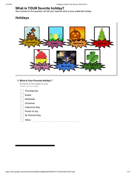 GOOGLE FORMS COMPATIBLE- Getting to Know You Survey