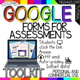 ASSESSMENTS TOOLKIT GOOGLE FORMS, SELF-GRADING, INSTANT DA