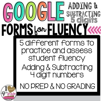 GOOGLE FORMS Fluency Bundle