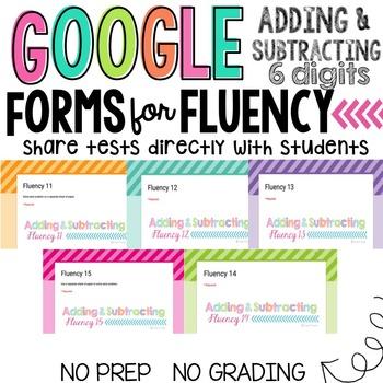 GOOGLE FORMS Fluency Mega Bundle