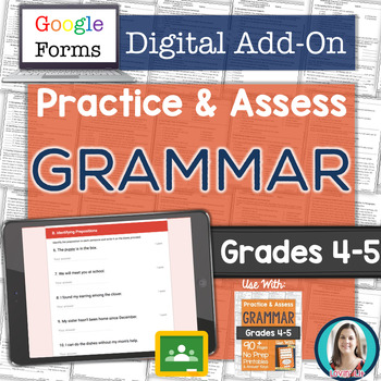GOOGLE FORMS Grammar Assessments and Practice Worksheets Grades 4-5