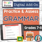 GOOGLE FORMS Grammar Assessments and Practice Worksheets G