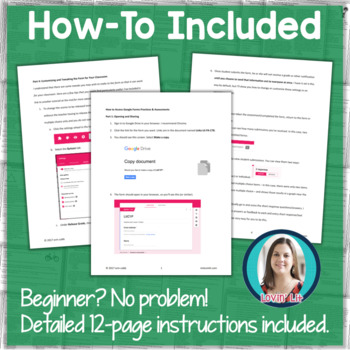 GOOGLE FORMS Informational Text Assessments and Practice Worksheets Grades 7-8