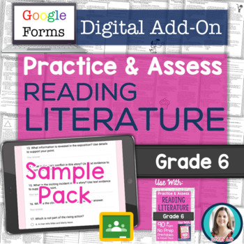 GOOGLE FORMS Literature Assessments and Practice Worksheets FREE