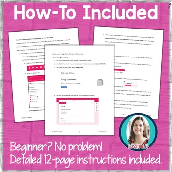 GOOGLE FORMS Literature Assessments and Practice Worksheets Grades 7-8