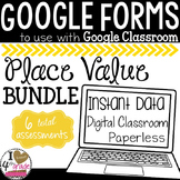 GOOGLE FORMS Place Value Bundle