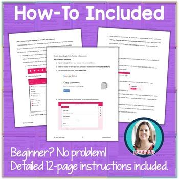 GOOGLE FORMS Poetry Assessments and Practice Worksheets Grades 6-8