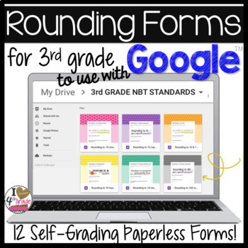 GOOGLE FORMS Rounding Bundle 3rd Grade