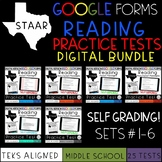 GOOGLE FORMS STAAR Reading Practice Tests Bundle